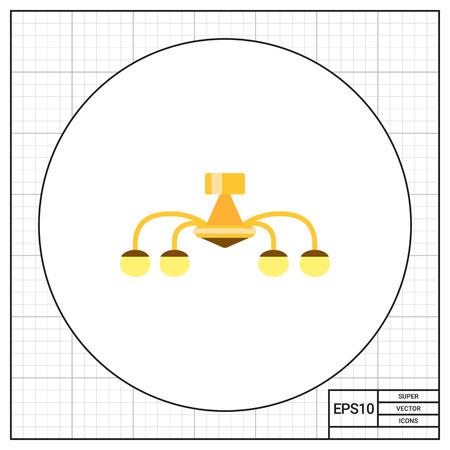 chandelier: Chandelier icon Illustration