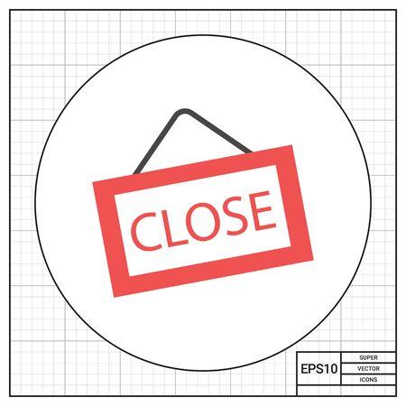 door sign: Icon of close door sign