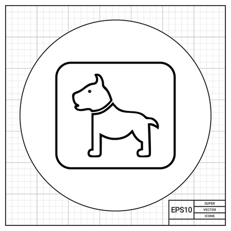 conveyance: Icon of dog sign