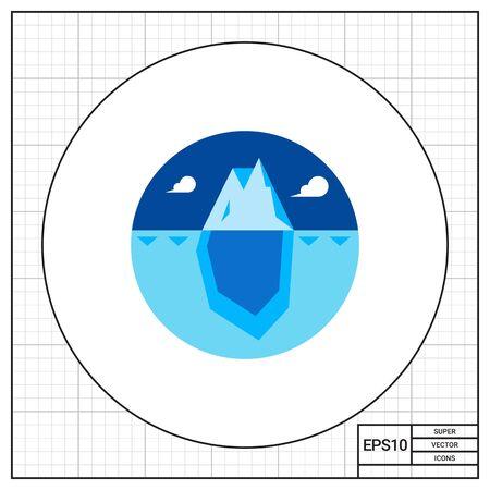 ヒント水面上、大きいと巨大な青い氷山水の下の部分。海、冷たい、冷凍。氷山のコンセプトです。マーケティングのような自然な北、トピックに使用できます。