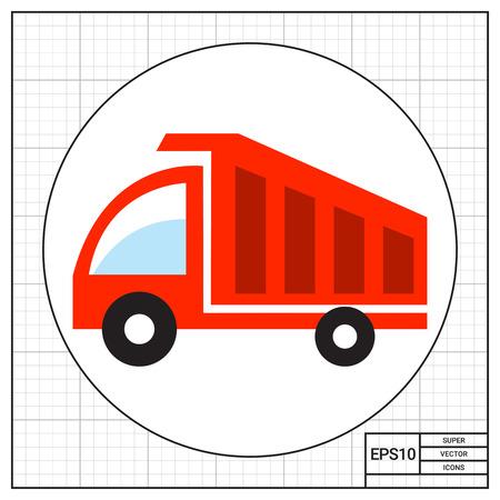 basurero: Icono de carro de descarga Vectores