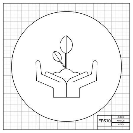 growing plant: Human hands holding growing sprout. Metaphor, life, plant. Environmental protection concept. Can be used for topics like nature, ecology, marketing.