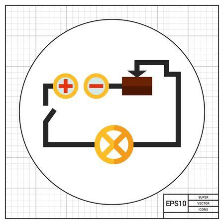 circuito electrico: icono de vectores multicolor del circuito eléctrico Foto de archivo