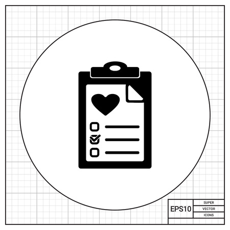 test results: Document with health test results. Information, survey, care. Health test concept. Can be used for topics like medicine, health, healthcare.