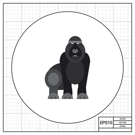 zoology: Gorilla. Animal, strong, forest. Monkey concept. Can be used for topics like zoology, biology, environment.
