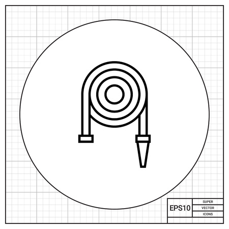 hose: Icon of fire hose reel
