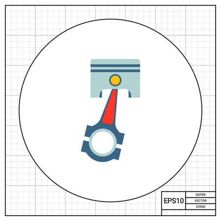 fuel rod: Engine piston icon