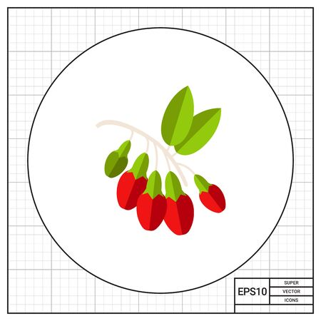 Bunch of goji berries. Plant, healthy, nutrition. Goji berries concept. Can be used for topics like nature, botany, food.