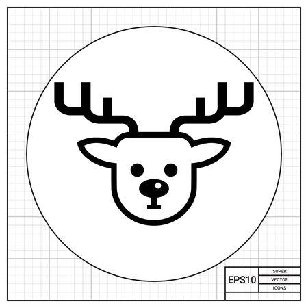 Themen Zu Weihnachten.Weihnachten Rentier Gesicht Antlers Traditionell Tier Ren