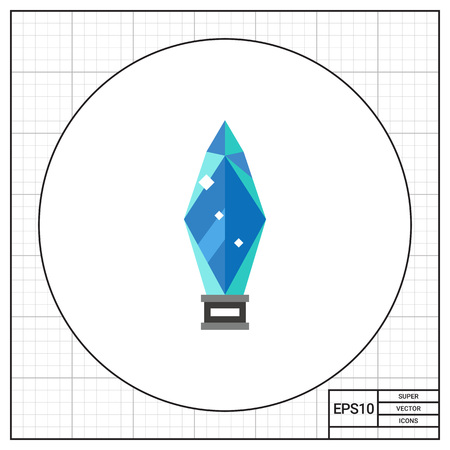 rewarding: Illustration of glass award. Winner, crystal, achievement, success, trophy. Award concept. Can be used for topics like awards, success, prize