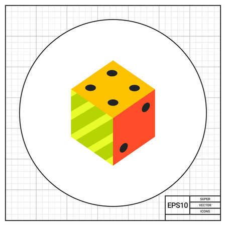 argumentation: Illustration of 3d dice. Logic, science, education. Logic concept. Can be used for topics like education, science of logic, knowledge Illustration