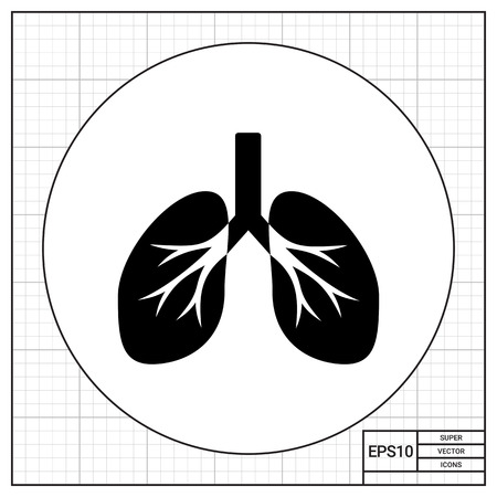breath: Isolated human lungs. Breath, air, smoking. Lungs concept. Can be used for topics like medicine, healthcare, anatomy.