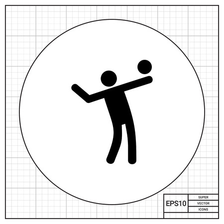 Volleying man. Game, team, beach. Volleyball concept. Can be used for topics like sport, recreation, competitions.