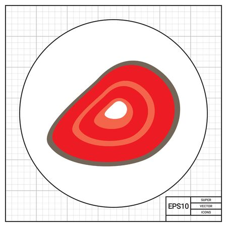 piece: Meat piece icon Illustration