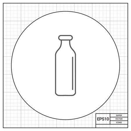 milkman: Icon of empty milk bottle