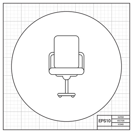 armrests: Swivel office chair with high back and armrests. Work, comfort, decorative. Seat concept. Can be used for topics like furniture, interior, fashion.