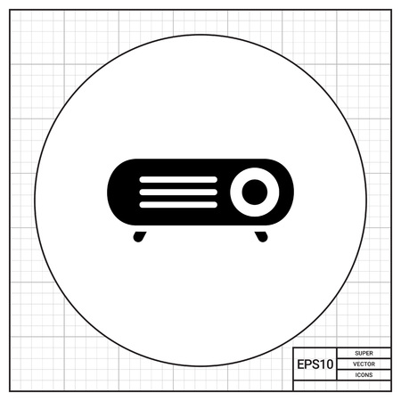 projector: Projector icon Illustration