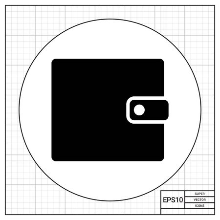 poke: Monochrome vector icon of man purse with snap