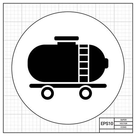 wagon: Icon of railroad tank wagon