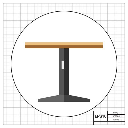 diningroom: Round table, side view. Domestic, cafe, comfortable. Furnishing concept. Can be used for topics like furniture, interior design, marketing.