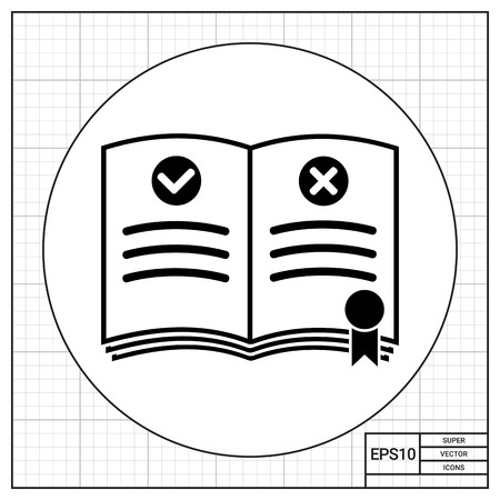 Rulebook with bookmark. Rules, regulation, guideline, instructions. Rules concept. Can be used for topics like gamification, management, administration, business