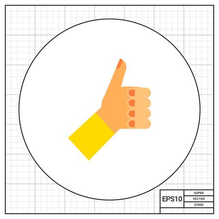 comunicacion no verbal: Salido de la mano con el pulgar arriba. El mostrar, positivo, no verbal. concepto de aprobación. Puede ser utilizado para temas como gestos, la comunicación no verbal, la gestión.