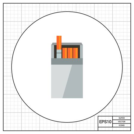 cigarette pack: Open cigarette pack Illustration