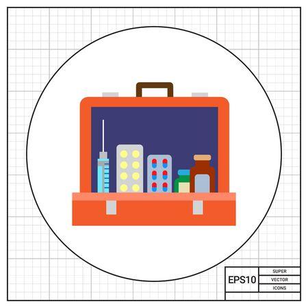 Open first aid kit icon Zdjęcie Seryjne - 68070316