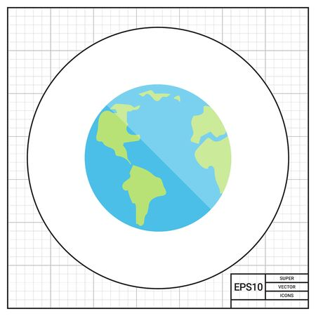 concerns: Planet Earth icon Illustration
