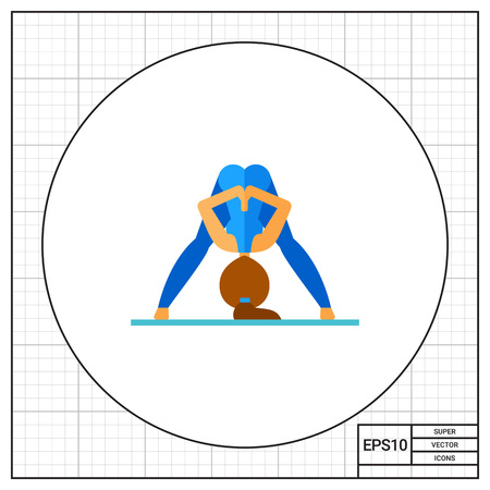 straddle: Prasarita Pose Icon