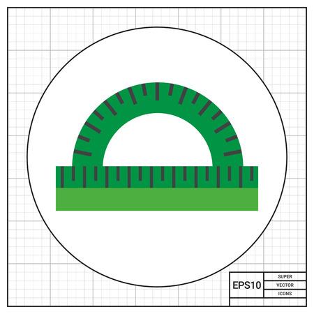 protractor: Protractor ruler Illustration