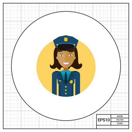 femme policier: Sourire policière Illustration