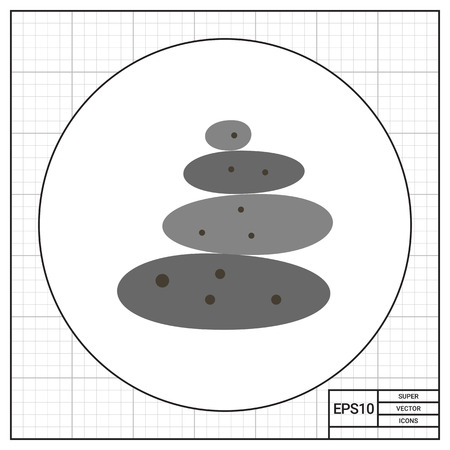 stacked stones: Stone therapy icon