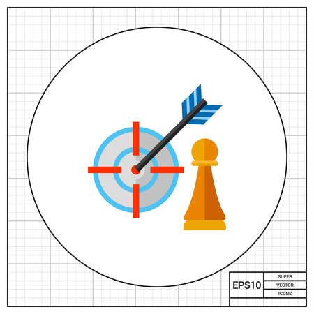 Strategy Focus Concept Icon Illustration