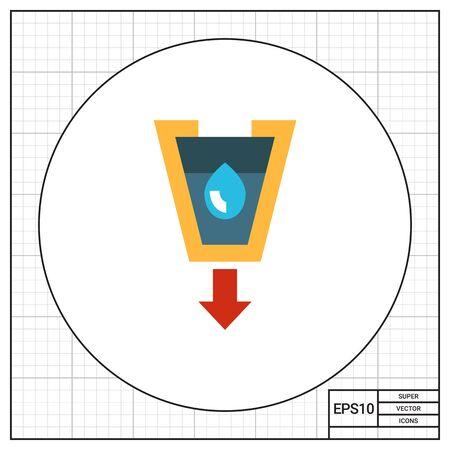 funnel: Stylized funnel icon