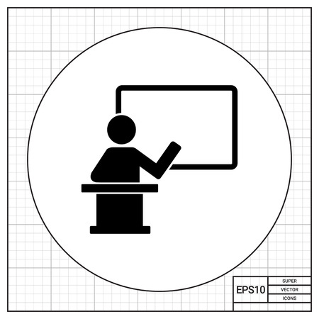 lecture hall: Teacher on Rostrum Icon