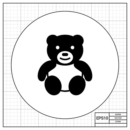 baby playing toy: Teddy bear icon Illustration