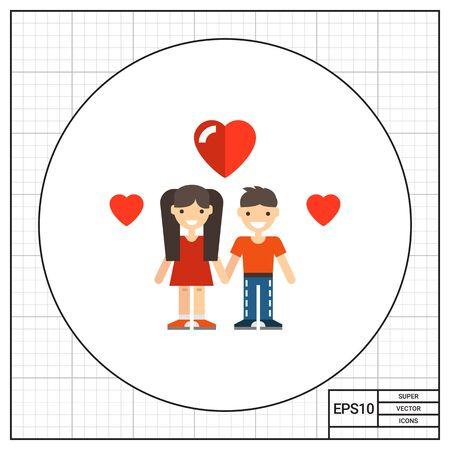 teenage couple: Teenage couple icon
