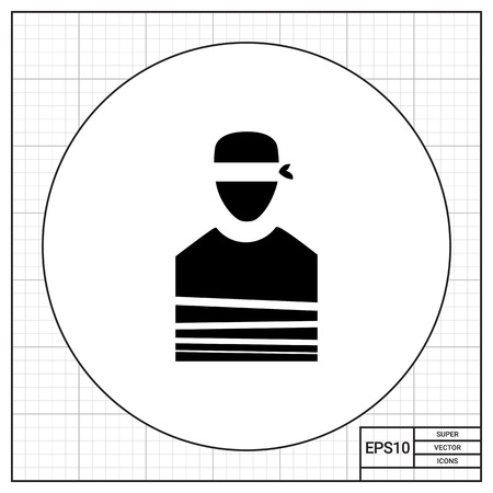 Tied Hostage with Blindfold Icon Imagens - 68456030