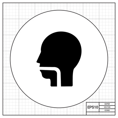 throat: Throat simple icon