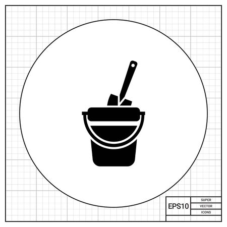 spade: Toy bucket with spade Illustration