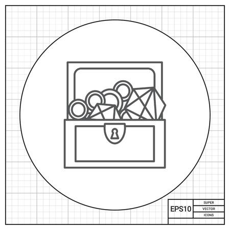 Treasure chest Illustration
