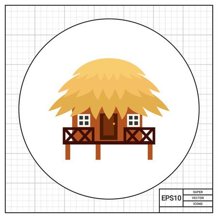 Tropical Bungalow Icon