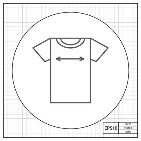 size: T-shirt size icon Illustration