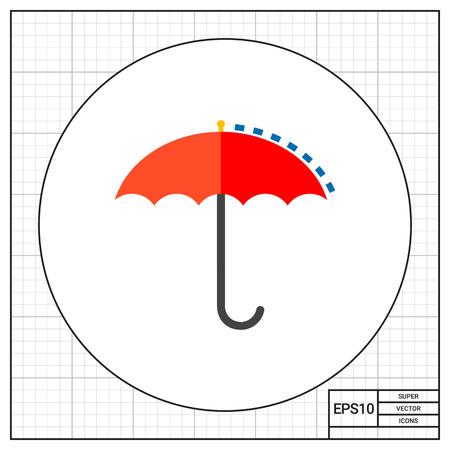 climatology: Umbrella as Meteorology Concept Icon Illustration