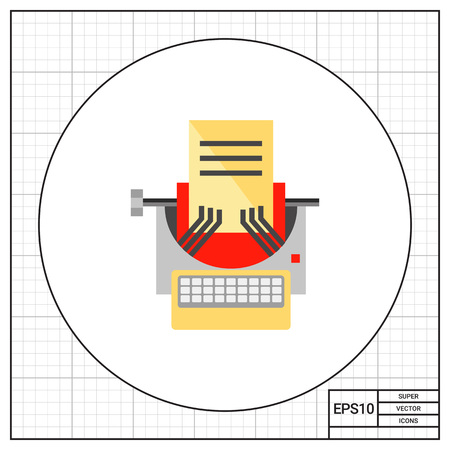 copywriting: Typewriter as Copywriting Concept Icon