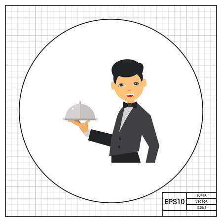 serving dish: Waiter Serving Dish Icon