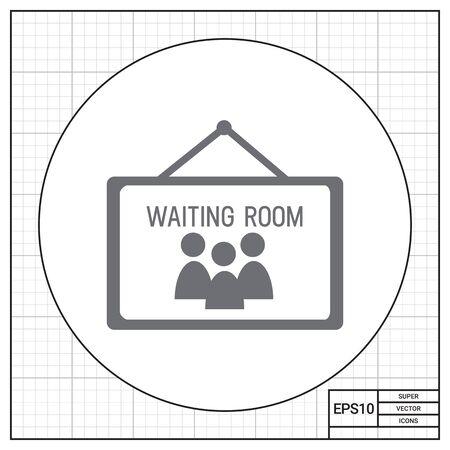 waiting room: Waiting room icon Illustration