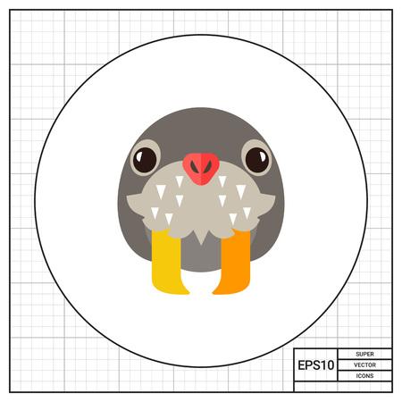 tusks: Walrus Head Icon