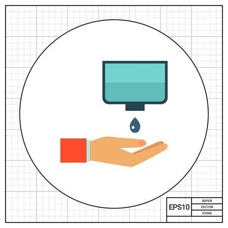 desinfectante: icon ofwashing las manos con jabón desinfectante